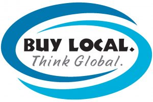 Buy Local Think Global at101910-2 with colors
